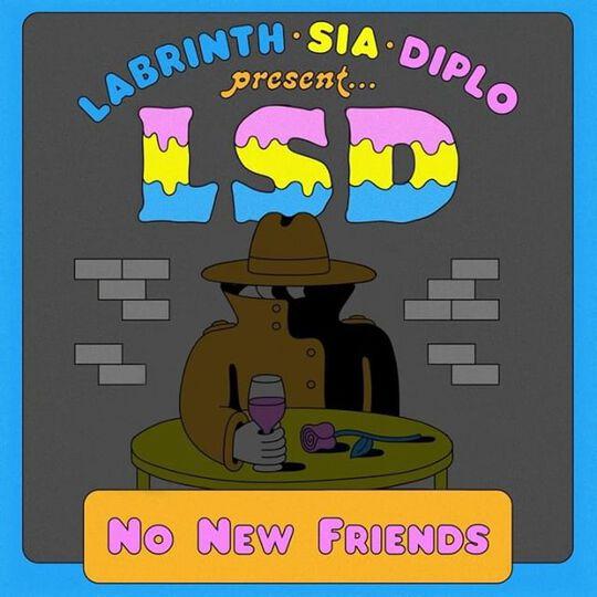 LSD No New Friends Art