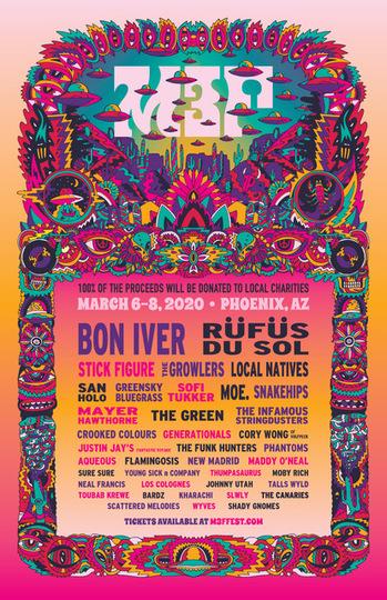 Firefly Festival 2020.Mcdowell Mountain Music Festival Drops 2020 Lineup Ft Bon