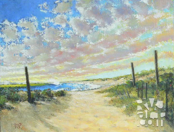 Beach Haven, oil painting by Roger Vincent Jasaitis, copyright 2012, RVJart.com