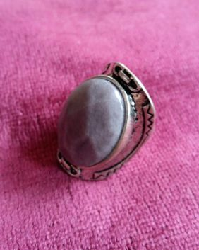 New Look lilac stone ring 3