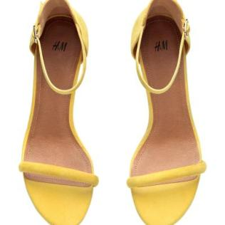 Yellow H&M suede heels 1