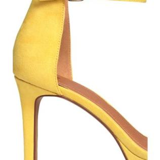 Yellow H&M suede heels 3