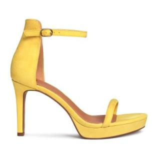 Yellow H&M suede heels