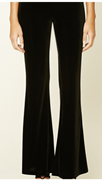 forever-21-black-velvet-flares-close-up
