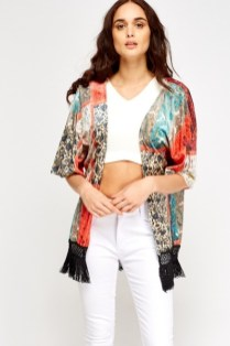 Everything 5 pounds mint and apricot kimono