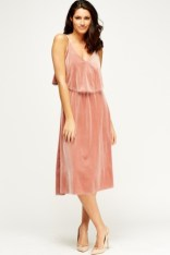 Everything 5 Pounds pink velvet dress