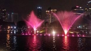 KLCC park fountains light show 2