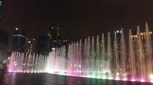 KLCC park fountains light show 7