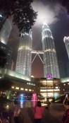 Petronas Towers at night 4