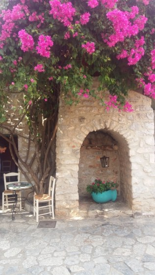 Areopoli flower archway