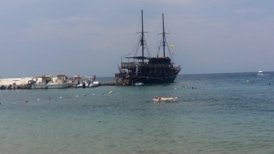 Boat in Stoupa harbour