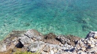 Crystal blue sea of Diros Bay
