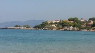 View across Stoupa Bay