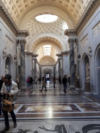 Gallery of Statues full length Vatican Museums