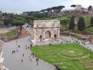 Roman forum triple arch