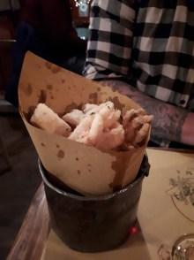 Bucket of calamari at Cantina e Cucina Rome