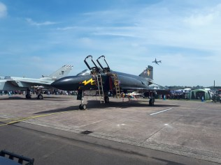 Black fighter jet RAF Cosford