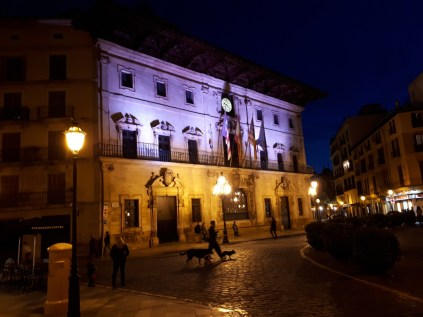 Palma municipal building at night