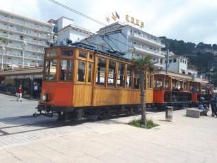 Tram along Port de Soller