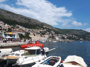 Dubrovnik Old Harbour looking back to Ploce