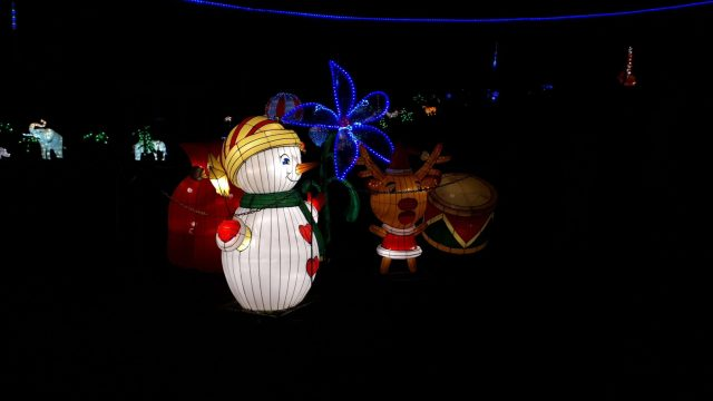 Birmingham Magic Lantern Festival - snowman and reindeer