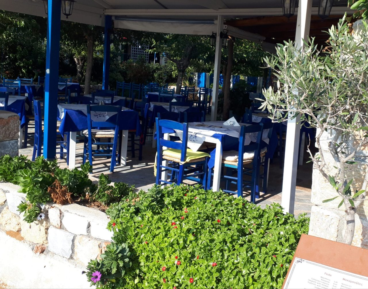 Typical taverna in Stoupa