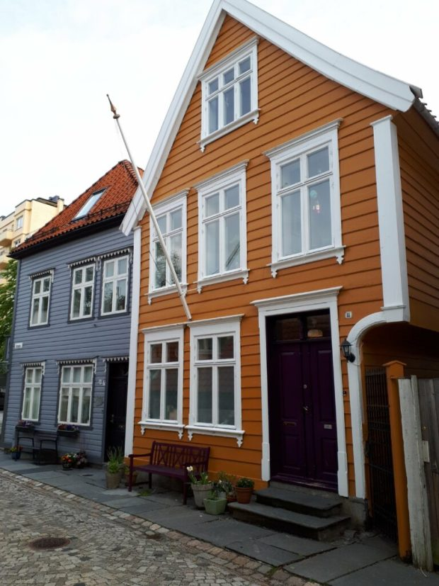 Wooden painted houses Bergen