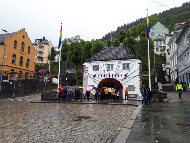 Fløibanen funicular railway station