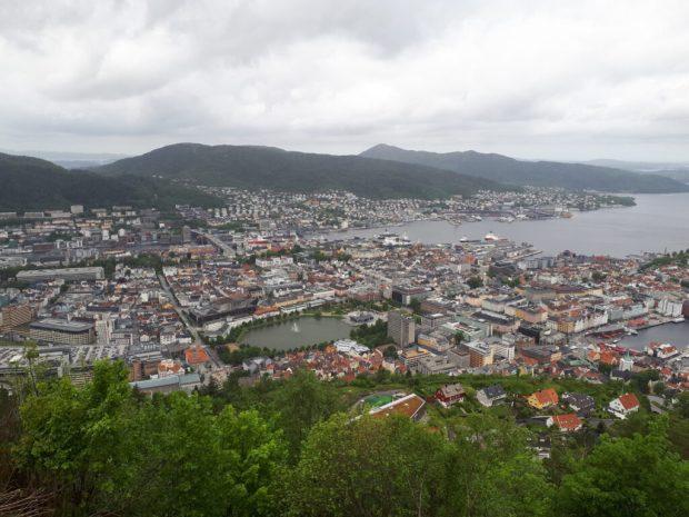 View over Bergen from Mount Floyen