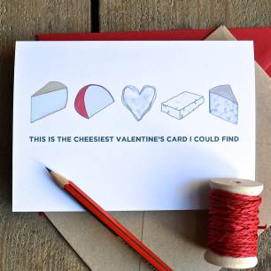 Valentines card cheese