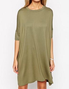 ASOS khaki t-shirt dress 2
