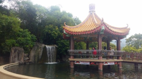 Kek Lok Si temple pagoda and waterfall