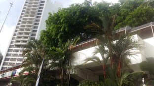 Walkway from beach side to Tower Holiday Inn Penang