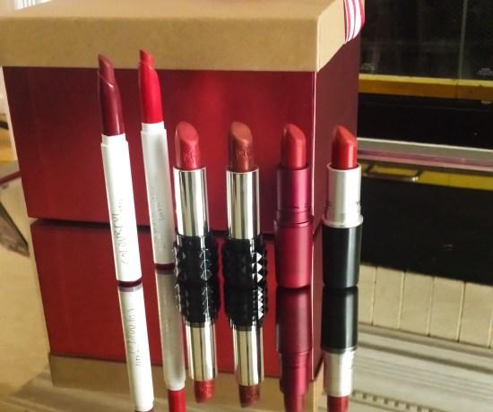 holiday red lipstick