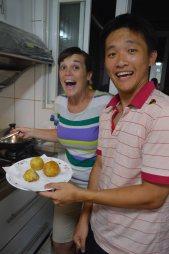 Group effort - rice balls