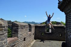 Olivia jumped off the Great Wall!!