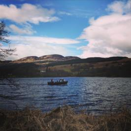 The Lake of Menteith and the ferry boat