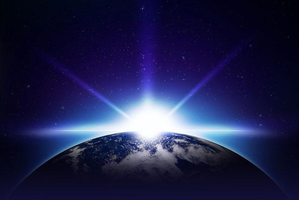 sun-over-earth