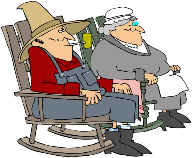 older couple on rocker