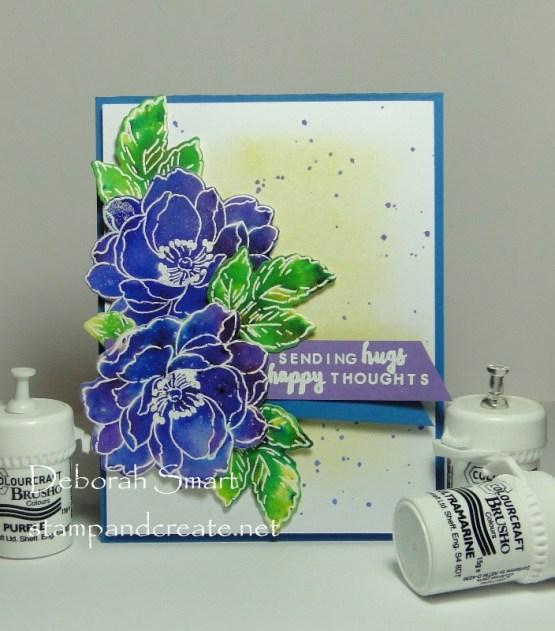 Beautiful Brusho Blooms