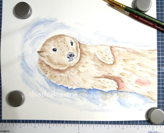 Watercolour Otter