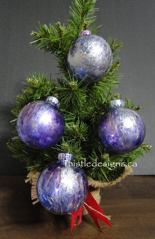 Textured Tree Baubles