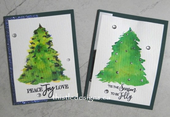 Brusho Christmas Trees