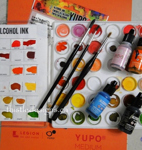 Demystifying Alcohol Ink Painting