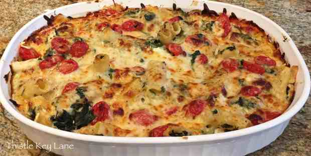 Chicken-n-Spinach Pasta Bake