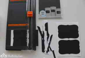 Labels and paper cutter