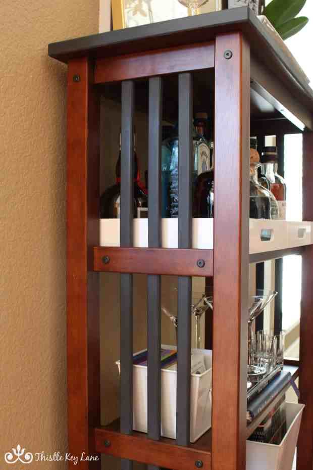 New industrial look for mission style bookcase