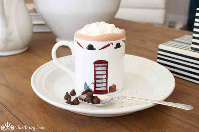 Add a few chocolate chips to your hot chocolate