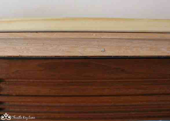 Oak and pine trim