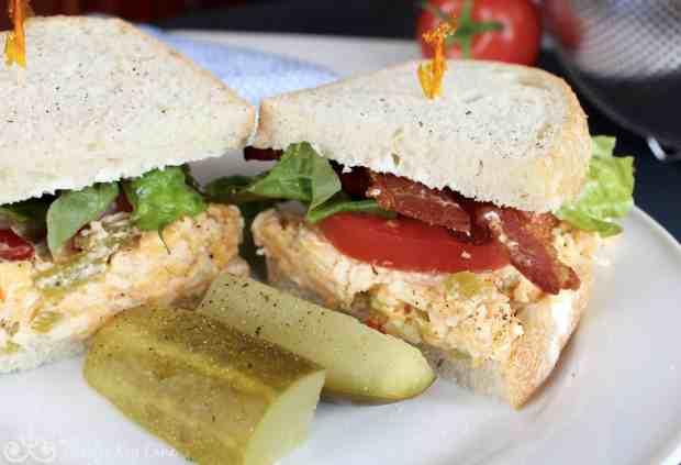 BLT Green Chili Pimento Cheese Sandwich